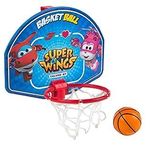 Super Wings - Mini canasta de baloncesto 28x22 cm (ColorBaby 77053)