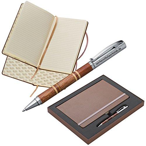 Geschenkset Mark Twain ® / Set aus Notizbuch A5 mit 160...