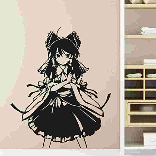 yaoxingfu Pegatina Touhou Project Sticker Anime Cartoon  Car Decal Sticker Vinyl Wall Stickers Decor Home Decora Red 58x70cm