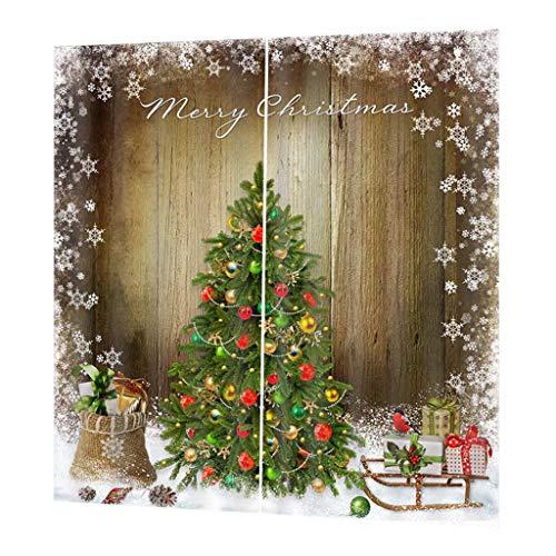 B blesiya tende oscuranti stampa 3d in poliestere accessorio decorativo per porta bagno - albero di natale decorativo