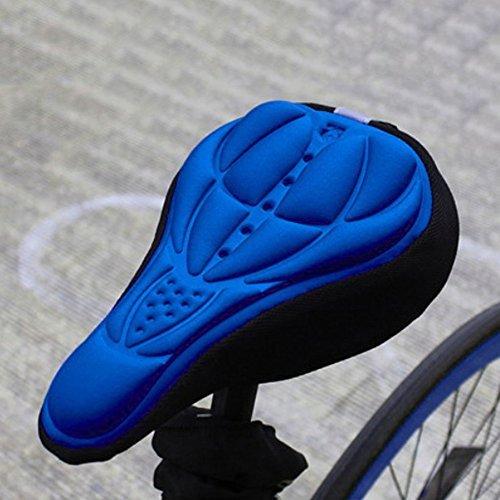 Broadroot 1PCS Outdoor comodo bici sella ciclismo silicone morbida durevole sedile cuscino, Blue
