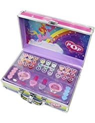2f240f176b6a4e POP Enchanted World Of Beauty Case Kit Maquillage pour Enfant 18 Gloss 2  Vernis 9 Ombres