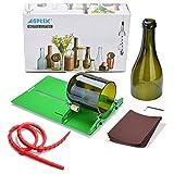 AGPTEK Bottle Cutter Glasschneider Kit Glasflasche Cutter DIY Weinflaschen und Bierflaschen Schneidwerkzeug zur Flaschen Pflanzmaschinen, Flaschen Lampen, Kerzenständer für runde Flasche (8 IN 1 Set)