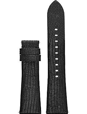 Michael Kors Access Bradshaw Leder-Uhrarmband Schwarz MKT9007