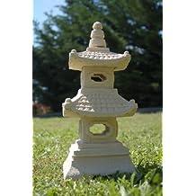 Lanterna pagoda giapponese, arenaria, 2 livelli, decorazione