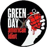 """BottleClocks Iconic Green Day American Idiot """"disco de vinilo reloj de pared"""