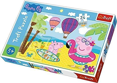 Peppa pig on holiday - puzzle