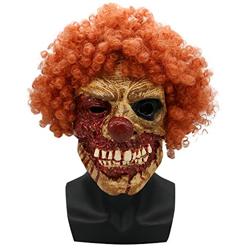 Halloween Maske Horror Brown Grimasse Zombie Walking Dead Latex Kopf Set Ekelhaften Schrecken Party Artikel