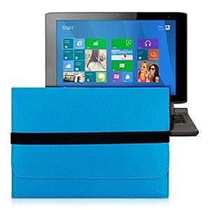 kwmobile Housse en feutre tablette pochette pour Medion Akoya P2214T - Housse de protection pour tablette pochette étui housse en bleu avec compartiments internes
