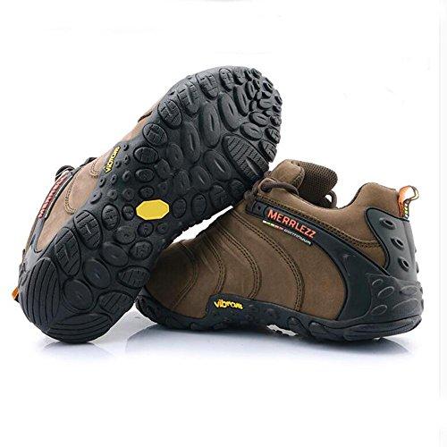 Suetar Scarpe da ginnastica esterni di cuoio durevoli e antiscivolo sneakers per da trekking adatti a vari ambienti esterni Brown