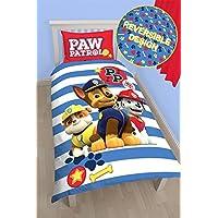 Nickelodeon Juego de cama con funda nórdica con diseño de la Patrulla Canina, con Spy, Chase, Marshall, Skye, para niños y niñas, Pawsome - Rubble, Chase, Marshall, suelto