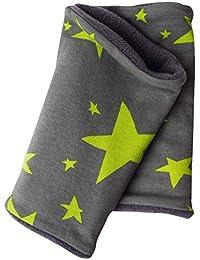 WOLLHUHN Warmes Halstuch, Zaubertuch, Schlupfschal, Schal Sterne Grüntöne für Jungen und Mädchen, Innenseite aus Fleece, 20160609
