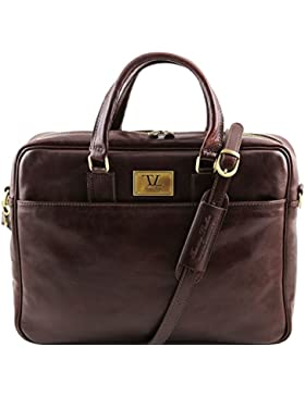 Tuscany Leather - Urbino - Leather laptop briefcase with front pocket - TL141241