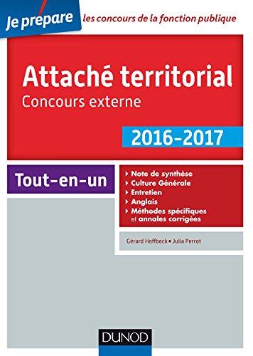 Attaché territorial 2016-2017 - Concours externe - 2e éd. - Catégorie A