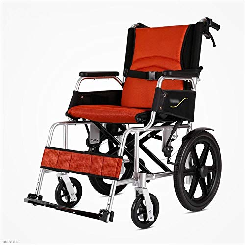 MYMAO 01Rollstuhl Falten tragbare Trolleys ältere Behinderte Aluminium-Legierung Ultraleicht tragbare Gehhilfen,Red (Titan-walker)