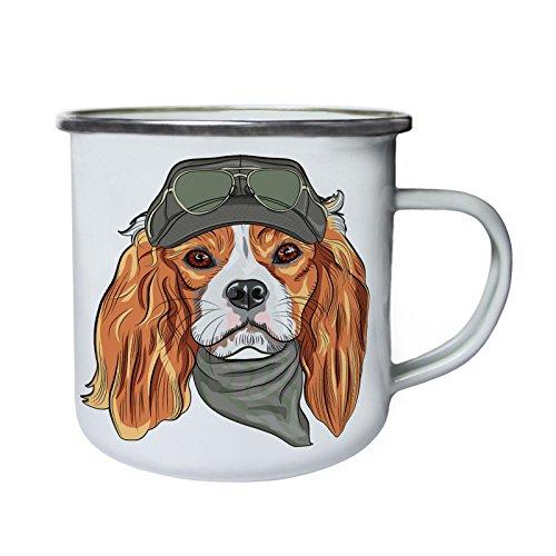 Lustiger Uniform Dog Pilot Smart Retro, Zinn, Emaille 10oz/280ml Becher Tasse z151e (Uniformen Zinn)