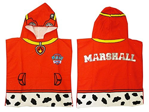 Children's Paw Patrol Marshall Hooded Bath Towel Poncho