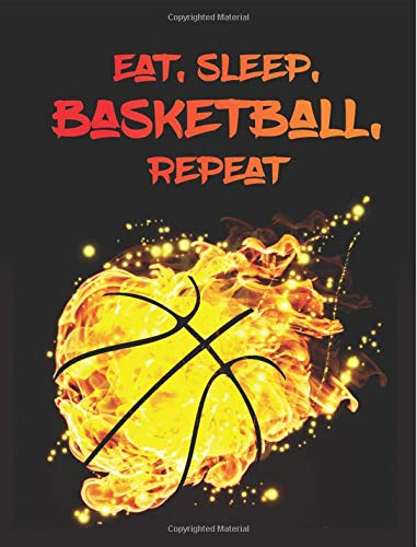 Eat, Sleep, Basketball, Repeat: Notebook Composition Book Journal - 7.44