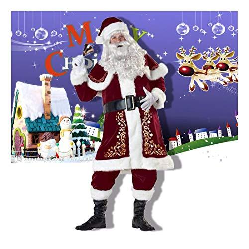 SDLRYF Babbo Natale Vestito Bar Costumi di Natale Uomini E Donne Adulti Babbo Natale Natale Natale Costumi Costumi Europei E Gli Appassionati Americani,XL