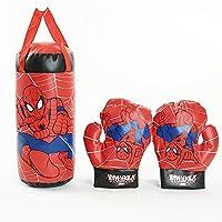XIAOMIN Guantes De Boxeo para Niños, Avengers, Spider-Man - Azul, Rojo,Red-37 * 18 * 18cm