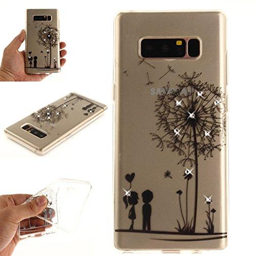 Ooboom® Coque pour iPhone X Housse Transparent TPU Silicone Gel Étui Cover Case Souple Ultra Mince avec Bling Glitter - Pissenlit Pissenlit