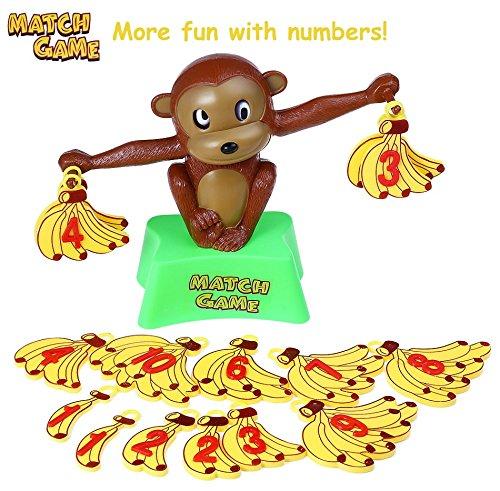 ik Affe zum Rechnen & Zahlen lernen mit einfachen Gleichungen, Bunt, Balance Lernspielzeug ab 4 Jahre für die frühe Entwicklung & Ausbildung Ihres Kindes (Mathe-spielzeug)