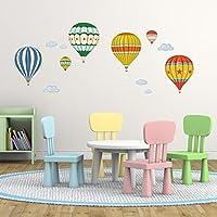 Decowall DA-1711 Globo de Aire Caliente Colorido Globo Aerostático Vinilo Pegatinas Decorativas Adhesiva Pared Dormitorio Salón Guardería Habitación Infantiles Niños Bebés