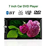 KKmoon Universal 7Zoll 2 Din HD Car Stereo-DVD-Player Radio Entertainment Multimedia Unterst¨¹tzt BT USB/TF FM Aux Eingang