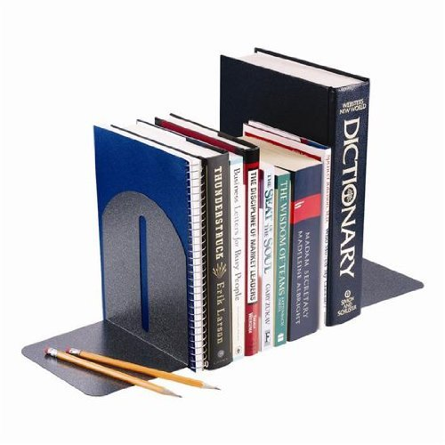 STEELMASTER Fashion Steel Bookends, 1 Pair, 5.9 x 7 x 5 Inches, Granite (2410171A3) by STEELMASTER