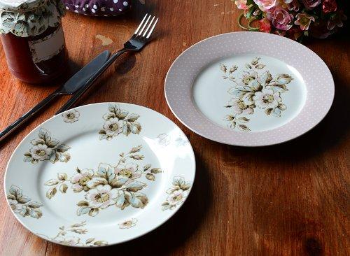Set of 4 Katie Alice Cottage Flower Porcelain Side Plates Porcelain Side Plate