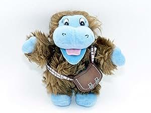 Figurine en peluche de wookie chewbacca star wars comme hippo de ferrero