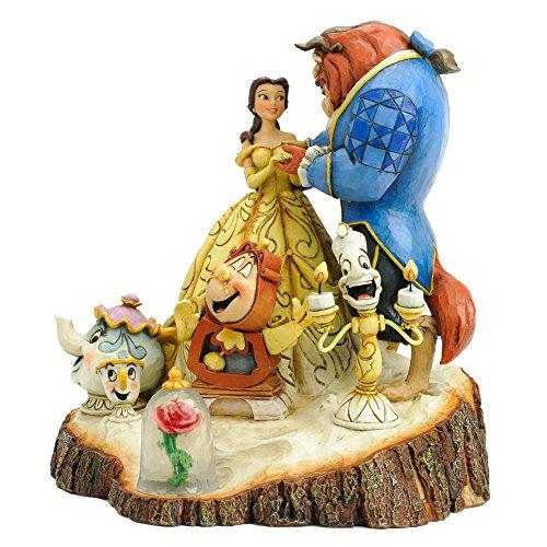 Disney-Tradition-4031487-La-Belle-La-Bestia-Resina-Design-di-Jim-Shore-19-cm
