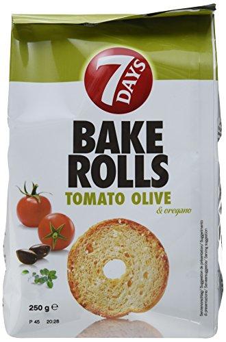 Preisvergleich Produktbild 7Days Bake Rolls Tomate Olive und Orega,  8er Pack (8 x 0.25 kg)