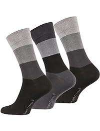 Lot de 6 paires de chaussettes classiques - chaussette Business - sans élastique - homme