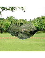 SKL Portable High Strength Parachute Material Hängematte mit Moskito-Netz zum Aufhängen, für Outdoor/Camping Reisen /