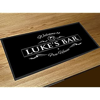 Artylicious Personalised Welcome pints bar mat runner counter mat