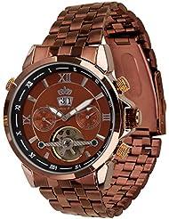 Lindberg & Sons Reloj Automático piraeus Acero/marrón/marrón colores