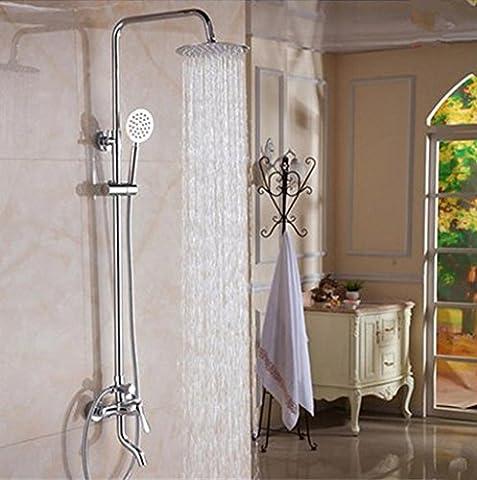 Caribou Massiv Messing Badezimmer Luxus Regen Mixer Dusche Combo mit Ultra-flexible Edelstahl Schlauch