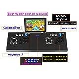 Ridecle Arcade Game Machine 3D Videospiele klassisch Doppelspieler LCD HD 10 Zoll und 2177 Klassische Spiele innerhalb der Spielekonsole TV Maschine