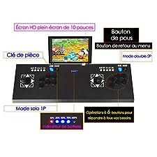 Ridecle 3D Moonlight Box 7 Jeu D'arcade Double Pandora Machine De Combat Console De Jeu TV Street Fighter, avec Écran d'accueil LCD De 10 Pouces De Jeu De La Boîte De Pandora La Boite de Pandore