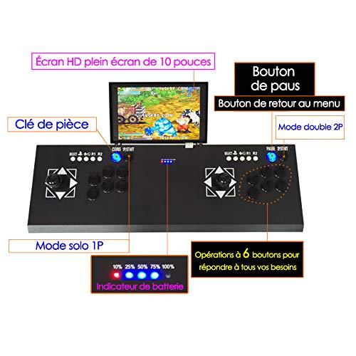 Ridecle Arcade Game Machine 3D Videospiele klassisch Doppelspieler LCD HD 10 Zoll und 2177 Klassische Spiele innerhalb der Spielekonsole TV Maschine (Video-arcade-maschinen)
