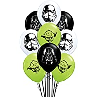 QUALATEX - Globos Mini Star Wars, Color Negro, Talla 13 cm diametro