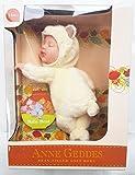 Anne Geddes Baby Bear Cream Beanie Doll