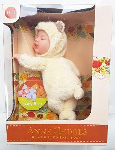 Anne Geddes Baby Bear Cream Beanie Doll (Baby Geddes Anne Bear)