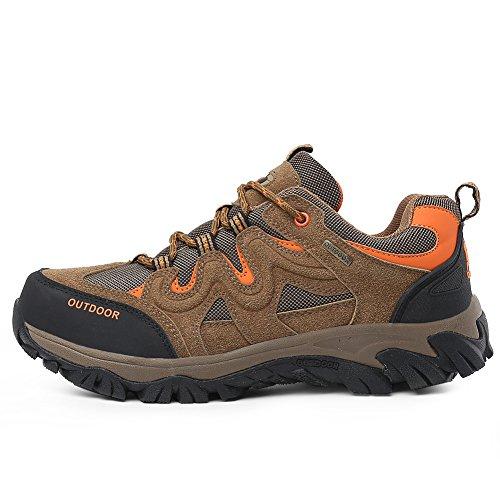 Husk'sware Trekking Schuhe Herren Walking Shoes Large size Sommer Outdoorschuhe Lightweight Hiking wanderschuhe Schnuerschuhe Shoes 39-49 Braun