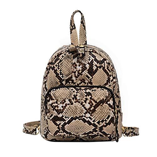 Leopard Fashion Tasche (Schultasche Damen Rucksack Elegant handtaschen Mädchen Schule Student Im Freien Reise Backpack Anti Diebstahl Taschen Qmber,Fashion Leopard Snake Bag Handtasche,Khaki)