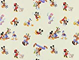 Disneystoff, Mickey Mouse, creme, Meterware ab 0,5 m
