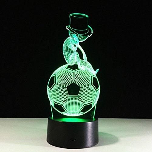 YXYH Denkende Lichter des Fußballs 3D, berühren geführtes Nachtlicht, kreative Geschenkatmosphäretischlampe, Tischplattennachtlicht, LED-Sichtlicht, personalisiertes Nachtlicht, USB-Schreibtischlampe, perfektes Geschenklicht