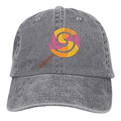 GHEDPO Lollipop Denim Baseball Caps Hat Adjustable Cotton -