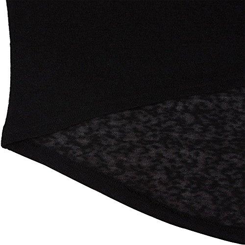 Lymanchi Damen Asymmetrisch Shirt Batwing Langarm Baggy Pullover Top Schwarz